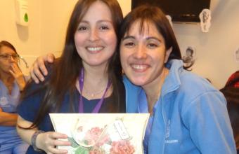 Leticia Bravo.Egresada que trabaja en el Hospital Clínico de la PUC