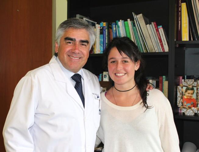 Dr. Luis Vicentela y Javiera Fuentes, Beca Líder