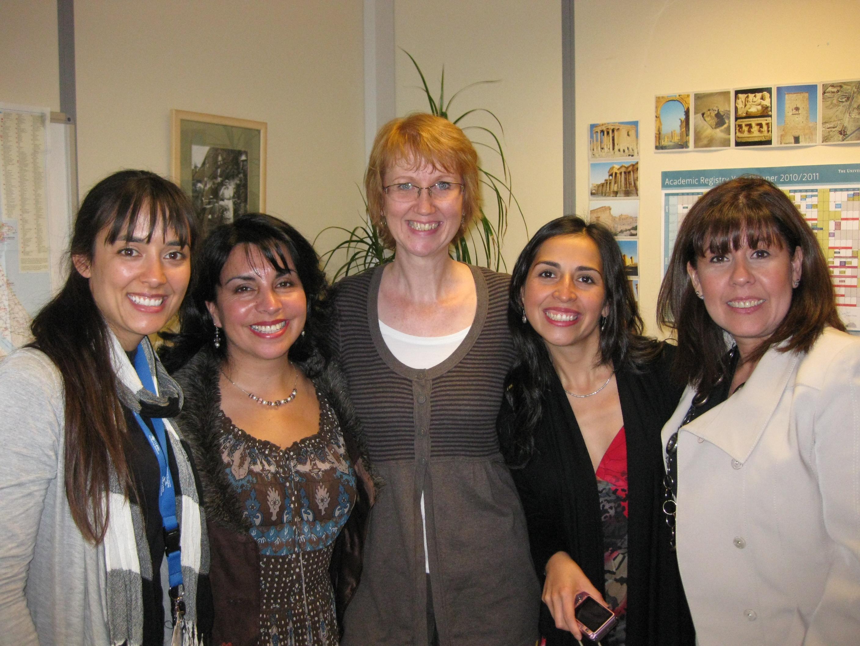 Yasna Becerra, Claudia Pérez, Glenda Marco, docentes U. York