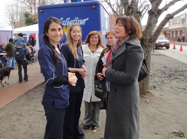Alumnos de carreras de la Salud participaron en operativo en Penco