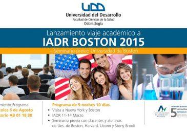 Odontología lanza viaje académico Boston 2015