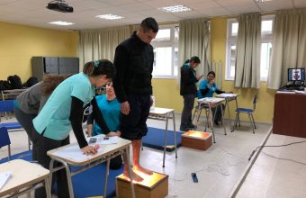 Alumnos de Kinesiología evalúan a grumetes de Isla Quiriquina