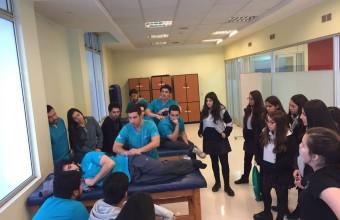 Alumnas de Inmaculada Concepción realizan pasantía en Kinesiología