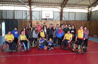 Kinesiología organiza exitoso partido de basquetbol inclusivo