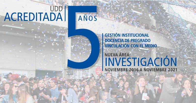 UDD es acreditada por cinco años incluyendo investigación